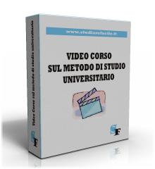 Videocorso metodo di studio universitario